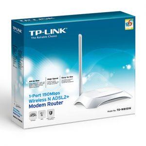 مودم روتر ADSL2 Plus بیسیم N150 تی پی لینک مدل TD-W8151N