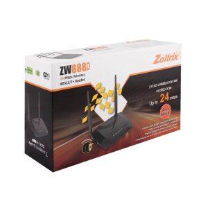 مودم روتر ADSL2 Plus بیسیم N300 زولتریکس مدل ZW888D