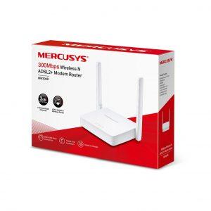 مودم روتر ADSL2 Plus بیسیم N300 مرکوسیس مدل MW300D
